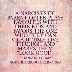 A Narcissistic Parent