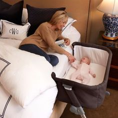 Childcare Cosy Time Sleeper, bassinet mode and a bedside sleeper mode, 6 position height adjustment, Age SuitabilityBirth - Weight Limit 9 kgs Baby Bedside Sleeper, Co Sleeper Bassinet, Baby Co Sleeper, Baby Bassinet, Bassinet Ideas, Baby Side Bed, Best Baby Cribs, Mode Simple, Baby Equipment