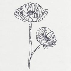 Delicate Poppy - Thread List   Urban Threads: Unique and Awesome Embroidery Designs
