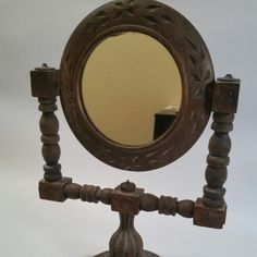 Rustic tabletop mirror
