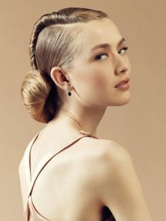 Slick Formal Hairstyle with Bun