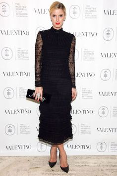 Need ideas for how to style a little black dress? The 100 best LBDs of 2015 to look to for inspiration: Nicky Hilton