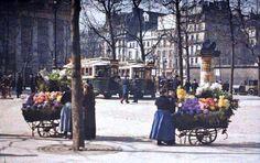 Place de la Madeleine - Leon Gimpel Mars 1914 ©Musée Albert Kahn - Département des Hauts de Seine
