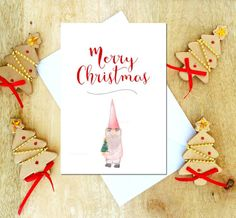 Merry Christmas Card for kids Holiday greeting by StockLaneStudio