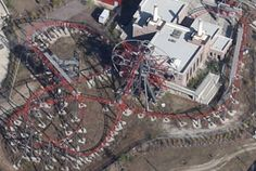 Maximum RPM (Round About) at the former Hard Rock Park. Only roller coaster to use a Ferris wheel as a lifting device.
