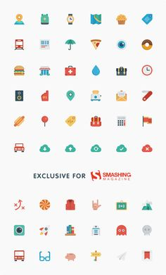 Freebie: Smallicons Icon Set (54 Icons, SVG, PNG, PSD) by Smashing Magazine. The set was created and designed by Nick Frost and Greg Lapin of Smallicons.