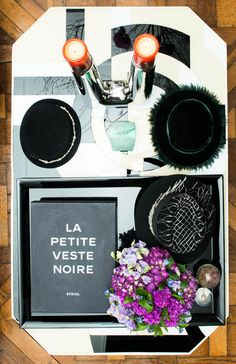 CHANEL'd out coffee table. www.thecoveteur.com/laetitia_crahay