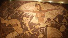 Largest coffee bean mosaic (Albania, artist: Saimir Strati) - Guinness World Records