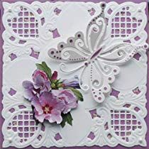 Gilroy Flower Corner Metal Cutting Dies Embossing Stencil Template for DIY Scrapbook Album Invitation Card Craft Scrapbooking Photo, Diy Scrapbook, Butterfly Cards, Flower Cards, Marianne Design Cards, Birthday Cards For Women, Embossed Cards, Card Making Techniques, Paper Cards