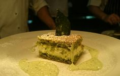 Our final course is pistachio cake, ricotta cream, limoncello & basil zabaglione #dessert #sweettooth #winepairings