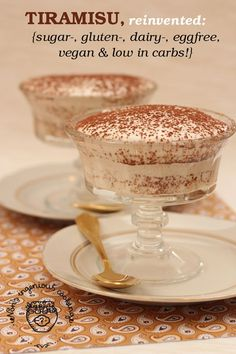 whole website with DAIRY FREE recipes: Gluten-free vegan tiramisu that is low in carbs and doesn't taste like coconut Gluten Free Sweets, Dairy Free Recipes, Vegan Gluten Free, Vegan Recipes, Vegan Vegetarian, Cooking Recipes, Paleo Dessert, Dessert Recipes, Cake Recipes