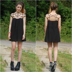 Sheinside Women's Black Girl Cut Out Shift Chiffon Mini Dress   Amazon.com