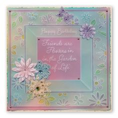 Tina's 3D Flowers & Butterflies Groovi Plate A4 Square – Claritystamp Hobbies And Crafts, Crafts To Make, Friend Birthday, Happy Birthday, Parchment Cards, Paper Flowers Diy, 3 D, Birthday Cards, Birthdays