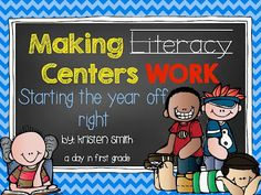 A Day in First Grade | How to successfully start and implement Literacy Centers (or Stations)
