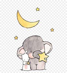 Sketch Pen Drawing, Art Sketches, Elephant Nursery Art, Cute Elephant, Cartoon Baby Animals, Watercolor Pictures, Cute Disney Wallpaper, Sticker Design, Cute Drawings
