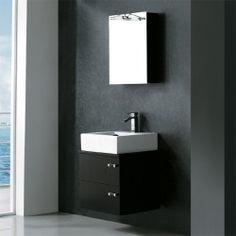 Vigo 22-inch Single Bathroom Vanity with Medicine Cabinet - Wenge Sale Buy : image