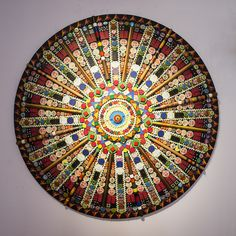 """piece from The Mandala Project, mixed media, John Gutoskey, NFS—in """"Wish List"""" exhibition at the 117 Gallery at the Ann Arbor Art Center"""