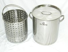 Ballington 42Quart Stainless Steel Stock Pot w FrySteamerBoil Basket  Lid *** Be sure to check out this awesome product.