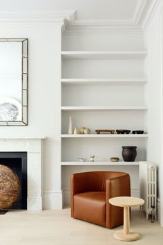 A full renovation of a semi-detached house over four floors in west London, bringing minimal tones and a calming natural palette to this spacious Edwardian family home. The team behind looked at the home as a whole, designing a balanced scheme to create flow throughout the home. The result is a home that works both as a refined sanctuary, and the hub for a busy family. #fredericiafurniture #pontable #jaspermorrison #interiordesign #livingroominspo #livingroomdecor #modernoriginals #craftedtolast Living Room Decor, Living Spaces, Timber Flooring, Minimalist Interior, Interior Design Studio, Patio Chairs, Victorian Homes, Minimalism, Home And Family