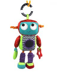 Baby Rattle Toy Activity Toys 26cm Robot Style Baby Rattle Music Comforter Baby Toy Rattles Children Early Eductional Dolls