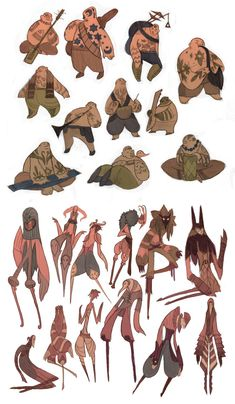 Jeyk and Cirta sketches by redredundance on deviantART ★ || CHARACTER DESIGN REFERENCES (www.facebook.com/CharacterDesignReferences - pinterest.com/characterdesigh) • Do you love Character Design? Join the Character Design Challenge! (link→ www.facebook.com/groups/CharacterDesignChallenge) Share your unique vision of a theme every month, promote your art, learn and make new friends in a community of over 16.000 artists who share your same passion! || ★