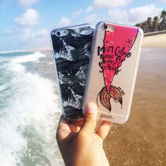 Bom dia mar! {cases: black ondas e mar calmo} [FRETE GRÁTIS A PARTIR DE DUAS GOCASES] #gocasebr #instagood #iphonecase #black #onda #summer #mar #sereia #voudegocase