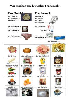 Foreign Language Teaching, German Language Learning, German Grammar, German Words, German Resources, How To Speak French, Learn German, Food, Italy