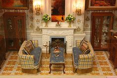 """""""The Smoking Room"""" by Ken Heseltine...miniatures"""