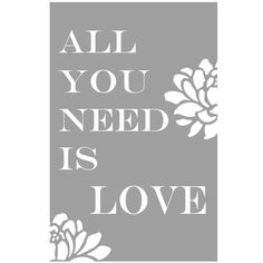 All You Need Is Love  11x17 Floral Print with by Tessyla on Etsy, $28.00