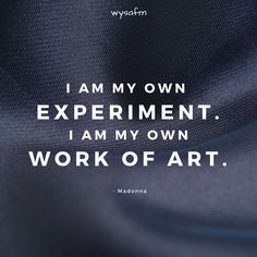 I am my own EXPERIMENT. I am my own WORK OF ART.  #anxiety, #emotions, #relationships, #deepwords, #distance, #sadness, #selflove, #selfcare, #feelings, #loneliness, #introvert, #hate, #single, #pain , #delusion, #heart, #broken, #missing, #loveqoutes Love Qoutes For Her, Qoutes About Love, Heart Broken, Emotion, Deep Words, Loneliness, Motivation, Introvert