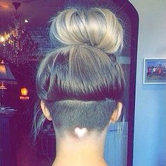 http://natural-hairs.com/57-most-attractive-short-hairstyles-that-drive-men-crazy-loco awesome Heart-Shaped Hair Design - Undercut hairstyles for women with long, medium & short tops, styles for growing out curls, hidden nape side cuts & shaved bobs with funky designs. Braided & bangs with haircut tutorials. Cute hair with sexy hair colors, wavy haircuts.