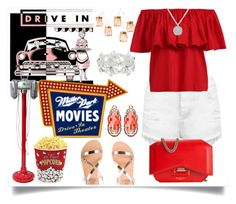 """""""Drive-in theater date"""" by jeneric2015 ❤ liked on Polyvore featuring Improvements, West Bend, Miss Selfridge, Ancient Greek Sandals, Givenchy, Anne Sisteron, M&Co, Ziio, DateNight and drivein"""