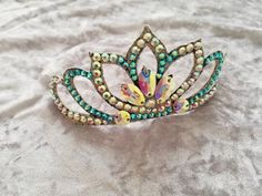 Headpieces for rhythmic gymnastics, artistic swimming or dance/Competition crown/Sport jewelry/ RG/Rhythmic gymnastics/synchro swimming Gymnastics Suits, Gymnastics Hair, Rhythmic Gymnastics Leotards, Gym Hairstyles, Crown Hairstyles, Girls Dance Costumes, Hair Piece, Argentine Tango, Cuff Bracelets