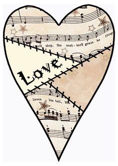 artbyjean blog clipart | Set #03 - Vintage Sheet Music Decoupage Clipart Print Collection ...