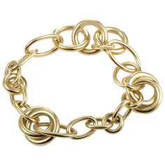 Pomellato Lucciole Yellow Gold Round Link Bracelet | From a unique collection of vintage link bracelets at https://www.1stdibs.com/jewelry/bracelets/link-bracelets/