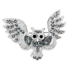 Pugster Vintage Owl Austrian Rhinestone Brooches & Pins Pugster. $14.27. Can be pinned on your gown or fastened in your hair with bobby pins.. Exquisitely detailed designer style with Swarovski cystal element.. Occasion: casual wear,anniversary, bridal, cocktail party, wedding. Money-back Satisfaction Guarantee.. One free elegant cushioned Gift box available with every order from Pugster.