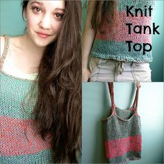 Lexalex: Striped Knit Tank Top