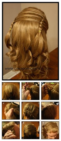 Girly Do Hairstyles: By Jenn: Drag Braid Headband