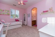It doesn't get any girlier (or more adorable!) than this bedroom in Carlsbad, CA!
