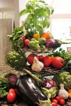 tiered vegetable centerpiece thepaintedapron.cim