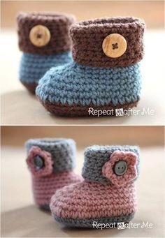 Haakpatroon Babyslofjes Haken Pinterest Baby Booties Crochet