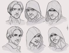 I draw a lot of Assassin's Creed. Assassins Creed Dibujos, Arte Assassins Creed, Assassian Creed, All Assassin's Creed, Arno Victor Dorian, Face Expressions, Fanarts Anime, Character Design References, Character Design Inspiration