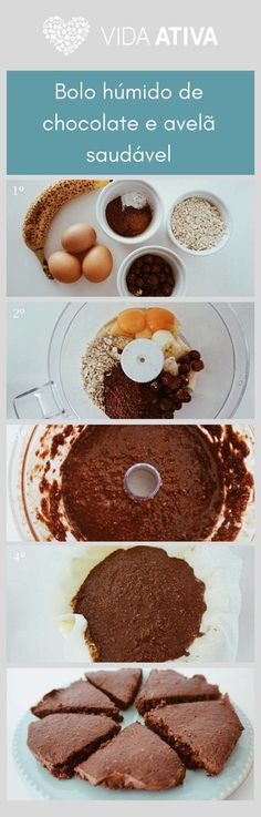 Bolo chocolate e avela