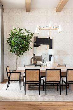Dining Room Inspiration, Dining Room Design, Dining Room Modern, Dining Room Art, Home Interior Design, Living Room Decor, Sweet Home, Dining Table, Architecture
