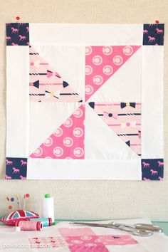 free pattern for a pinwheel quilt block on polkadotchair.com