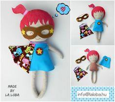 Superhero girl fabric doll dress up doll by LaLobaStudio on Etsy