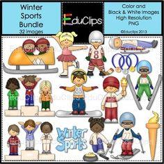 Winter Sports Clip Art Bundle