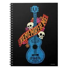Disney Pixar Coco | Guitar Sugar Skulls Typography Notebook Guitar Art, Blue Guitar, Mexican Holiday, Cool Typography, Fantasy Movies, Custom Notebooks, Disney Drawings, Disney Pixar, Art Reference