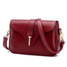 Fashion Buckle Leather Messenger Bag