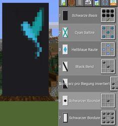 Minecraft Banner Patterns, Cool Minecraft Banners, Minecraft Images, Minecraft Decorations, Minecraft Crafts, Minecraft Ideas, Minecraft House Tutorials, Minecraft House Designs, Minecraft Tutorial